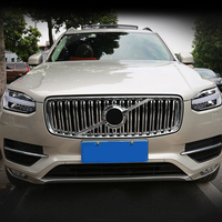 For Volvo XC90 2015 2018 ABS Chrome Car styling Kidney Grilles Bumper Grille Frame Cover 2*