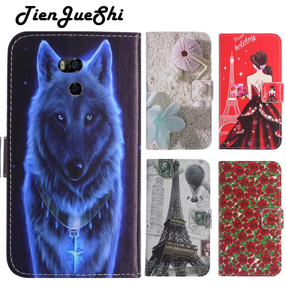 TienJueShi Fashion Book-Stand Flip Leather Protection Cover Shell Wallet Etui Skin Case For ulefone power 5 6 inch