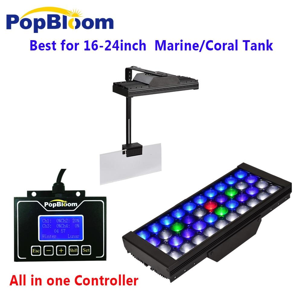 PopBloom Lamp Aquarium Lighting Light Aquarium marine Light For Aquarium Light For Fishing Turing30