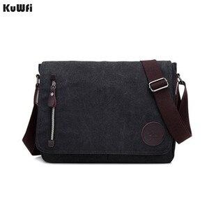 Image 1 - New Arrival Men Laptop Shoulder Bag Mens  Canvas Business Computer Bag luxury Designer Briefcase File package Travel Leisure
