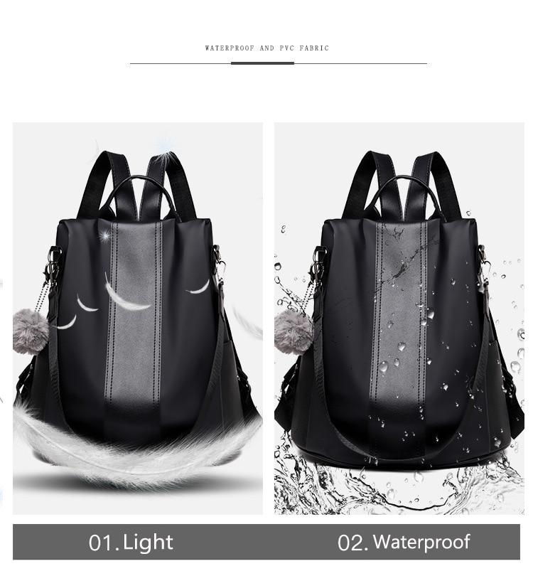 HTB1lKKEXyHrK1Rjy0Flq6AsaFXaN New Fashion Waterproof Casual Women Backpack Purse Anti-theft Rucksack Mochila Feminina School Shoulder Bag for Teenagers Girls