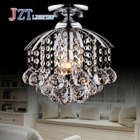 GETOP Modern LED Crystal Chandeliers Restaurant Aisle Entrance Hall Corridor LED Crystal Lamps Lighting Fixture D28xH28cm