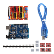 High Quality New 2019 For CNC Shield V3 3D Printer+4xA4988 Driver +UNO R3 For w/USB Cable Hot Sale 1set cnc shield v3 engraving machine 3d printer uno r3 board 4 x drv8825 driver kit for arduino 3d printer expansion board