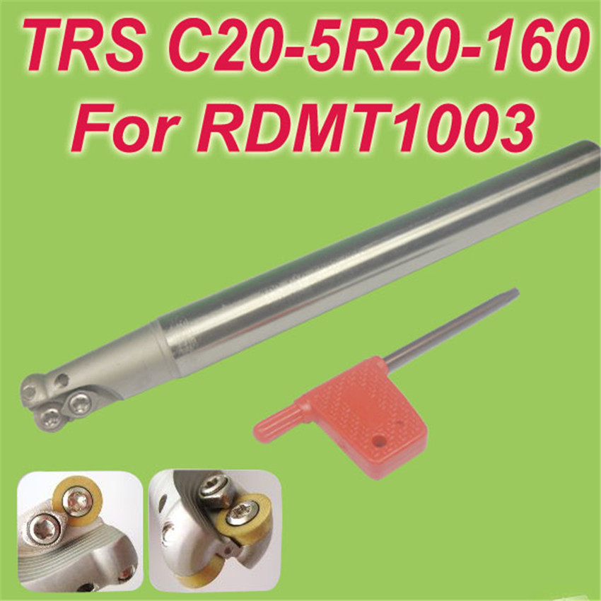 TRS SHK 20MM,L:160mm  Indexable Shoulder End Mill Arbor Cutting Tools for RDMT10T3 Free Shiping trs shk 25mm l 160mm indexable shoulder end mill arbor cutting tools for rdmt10t3 free shiping
