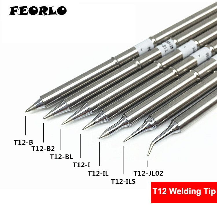 FEORLO 7pcs/lot soldering tips T12 T12-B B2 BL I IL ILS JL02 for HAKKO Solder Iron Tips soldering welding stings