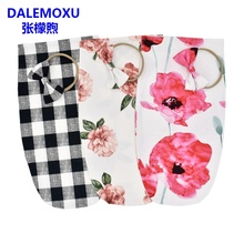 DALEMOXU Newborn Cocoon Sleeping Bag Polyester Fiber Baby Swaddle Wrap Stripe Flower Pattern Sleep Sack With Bow Headband 2PC