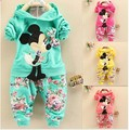2015 summer style minnie mickey baby girls Sport suit long sleeve children hoodies+pants clothes sets kids clothes clothing set