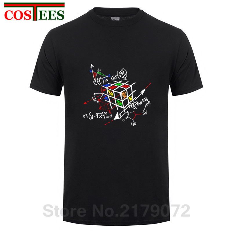 Geometric Rubik Cube   T     shirts   Men Creative Fashion Magic Cube   T  -  shirt   Short Tee Cotton Tops The Big Bang Theory Geek Cube tshirt