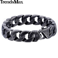 Mens 316L Stainless Steel Snake Skin Fleur De Lis Shield Bracelet HB16