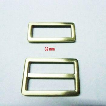 """1.25 """"Antique Brass triglide slider & buckle for adjustable straps"""