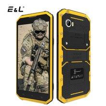 E & L W9 Smartphone Stoßfest 6 Zoll FHD 2 GB RAM 16 GB 8.0MP MTK6753 Octa-core 4000 mAhe IP68 Wasserdicht Android 6.0 Mobile handys