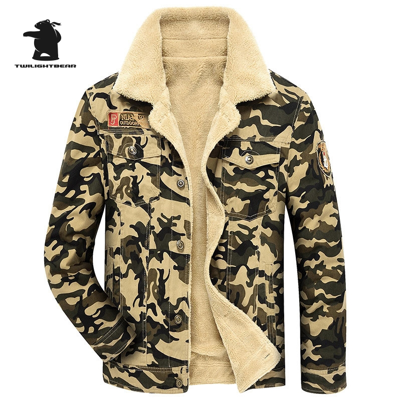 Brand Casual Cotton Lined Jacket New Fashion High Quality Thickening Winter Jacket Men Fleece Warm Coat