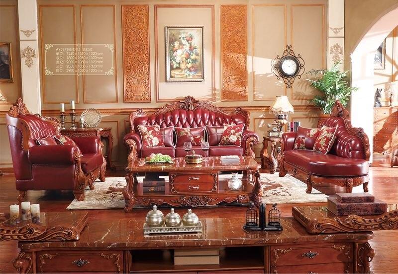 Turco marrón y blanco completo sofá de cuero muebles de madera ...