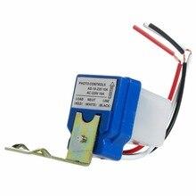 1 шт. автоматический переключатель уличного света с автоматическим включением и выключением, Датчик управления фото для переменного тока 220 В