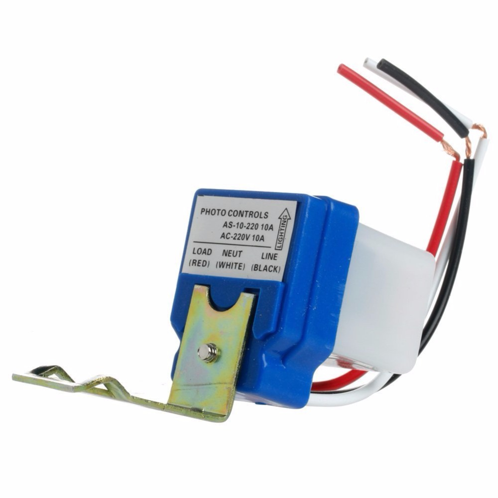 1PCS Automatic Auto On Off Street Light Switch Photo Control Sensor For AC 220V