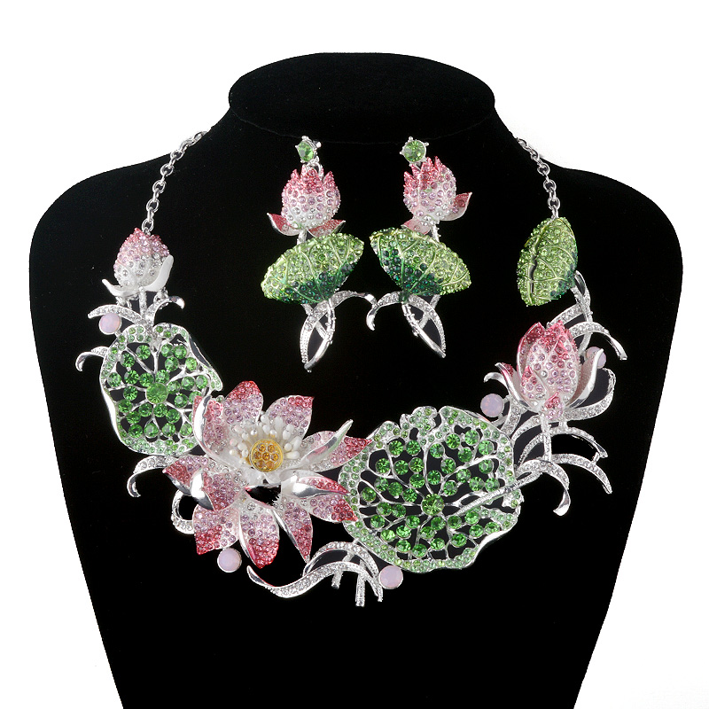 New Gorgeous Crystal jewelry sets Bridal wedding necklace earrings ...