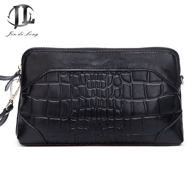 Brand New Plaid Genuine Leather Women's Daily Clutch Bags Crossbody Shoulder Zipper Bags Ladies shopping Party Bag