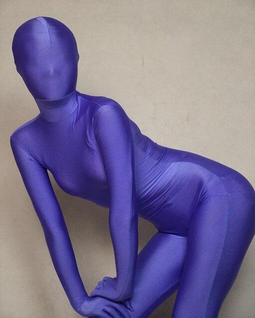 80154b780fa Purple Full Body Spandex lycra Bodysuit Zentai Leotard Suit Adult Size  Costumes Fancy Dresses