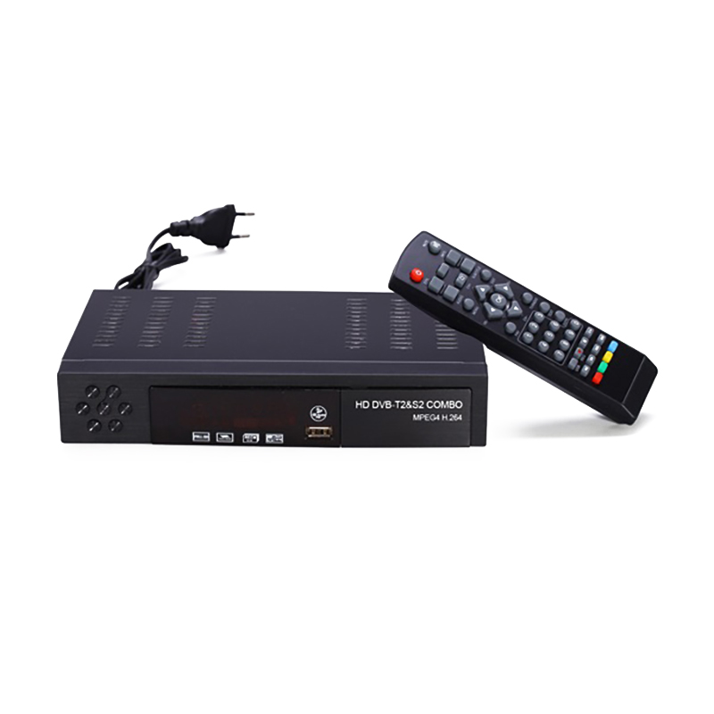 Eu Stecker Digitalen Terrestrischen Satellite Tv Receiver Dvb <font><b>T2</b></font> S2 Combo Dvb-<font><b>T2</b></font> Dvb-S2 Tv <font><b>Box</b></font> 1080P Video Hdmi Out für Russland Europa image