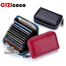 New Genuine Leather Card Holder Wallet RFID Blocking Short R Credit Card Holder For Women Men Vintage Coin Purse Fashion Wallets цена