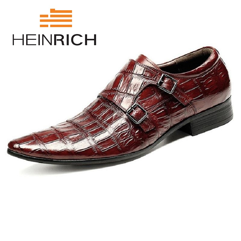 HEINRICH Italian Men Shoes Genuine Leather Double Monk Strap Black Luxury Wedding Business Male Dress Shoes Zapatos De HombresHEINRICH Italian Men Shoes Genuine Leather Double Monk Strap Black Luxury Wedding Business Male Dress Shoes Zapatos De Hombres