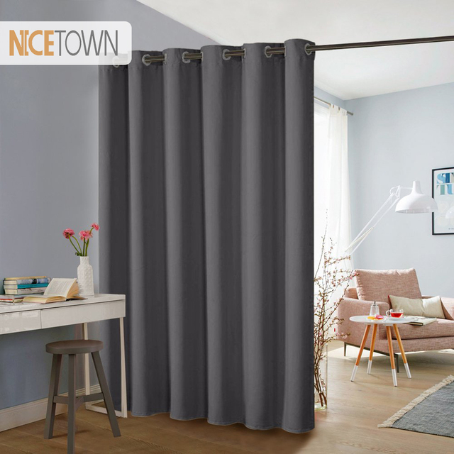 NICETOWN Thermische Isolierte Breite Breite Feste Blackout Vorhang Teiler/ Vorhänge Für Schiebetür Dekoration, Extra