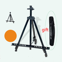 High quality folding sketch easel adjustable metal tripod display easels multifunction telescopic iron mini art sketch easel