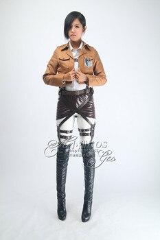 Attack on Titan Shingeki no Kyojin Levi/Eren Cosplay Costume Outfits Halloween Costumes for Women/Men Carnaval Disfraces 2