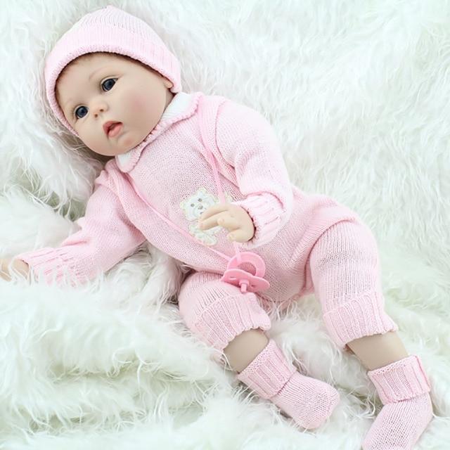 55เซนติเมตรPoupeeมินิเต็มซิลิโคนBebe Rebornตุ๊กตาเด็กทารกนุ่มร่างกายเครื่องดื่มตุ๊กตาสมจริงของเล่นทารกแรกเกิดJuguetesคริสต์มาสของขวัญ