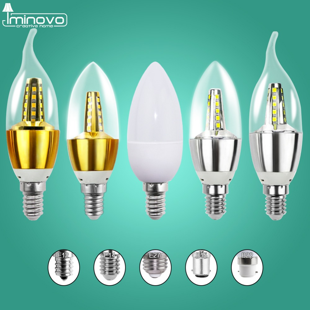 E14 LED Candle Bulb Light E27 Energy Saving Lamp 220V 3W 5W 7W E12 B15 B22 Bombilla Lampara Chandelier Home Decoration Spotlight enwye e14 led candle energy crystal lamp saving lamp light bulb home lighting decoration led lamp 5w 7w 220v 230v 240v smd2835