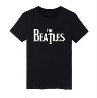 BTS Beatles Tee Shirt Men Cotton Summer Casual Shrot Sleeve T Shirt Men Fashion Rock Band