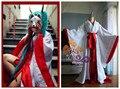 Vocaloid Hatsune Miku rojo violeta fantasma nocturna mujeres Kimono Cosplay envío gratis