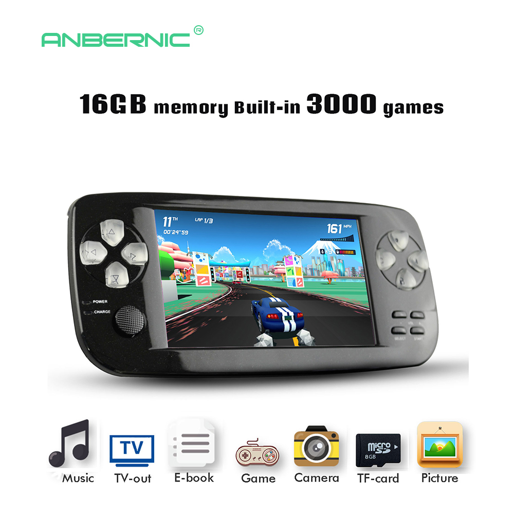 Childhood Portable Handheld Game Console 64 Bit 4.3 Inch Consolas De Video Juego Video Game Console PAP-KIII Children Gift 07 portable 3 inch 16 bit handheld game console black and blue