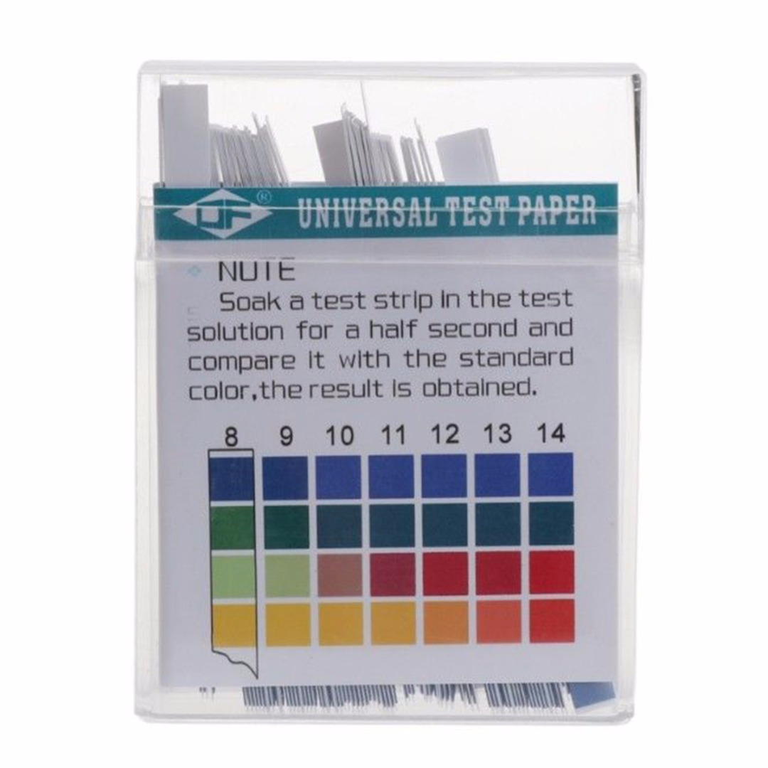 100 Strips Laboratory Household PH Test Strip Indicator PH 1-14 Test Paper For Water Saliva and Urine Testing Measuring
