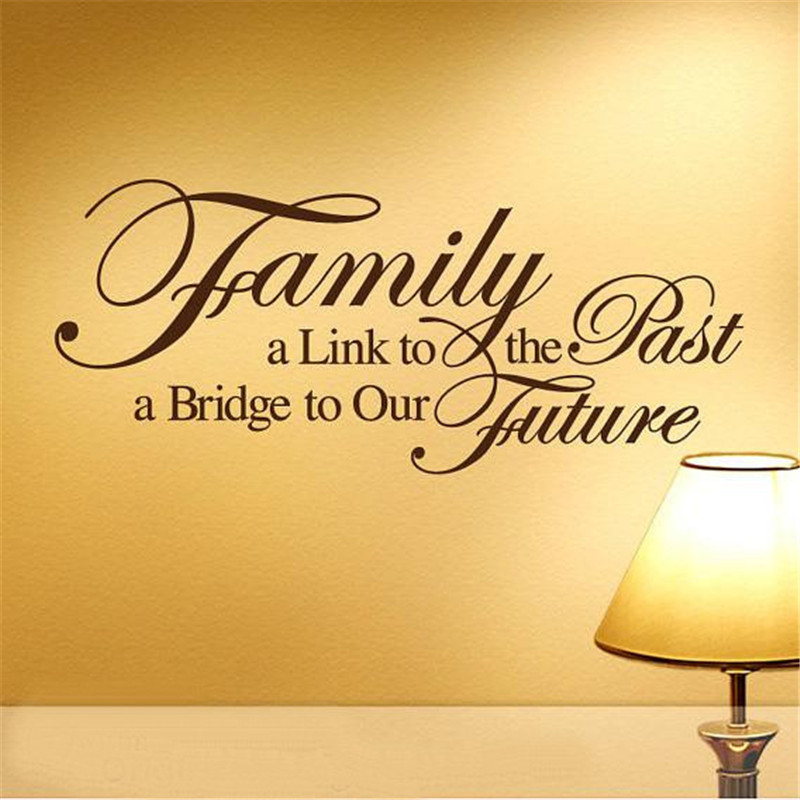 Short Religious Quotes About Family: Peel Off And Stick Family English Words Vinyl Wall Decal