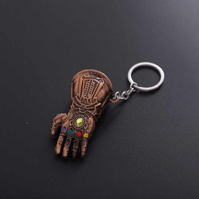 Marvel Avengers 4 người sắt găng tay móc khóa Thanos Vô Cực Chiến Tranh mẫu móc khóa nữ Tặng móc khóa thời trang trang sức