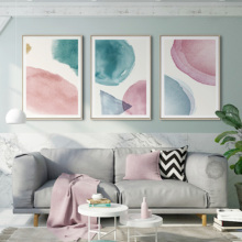 Abstract Canvas Poster Pink Posters And Prints Modern Art Wall Paintings Girl Framework Decoration Pictures