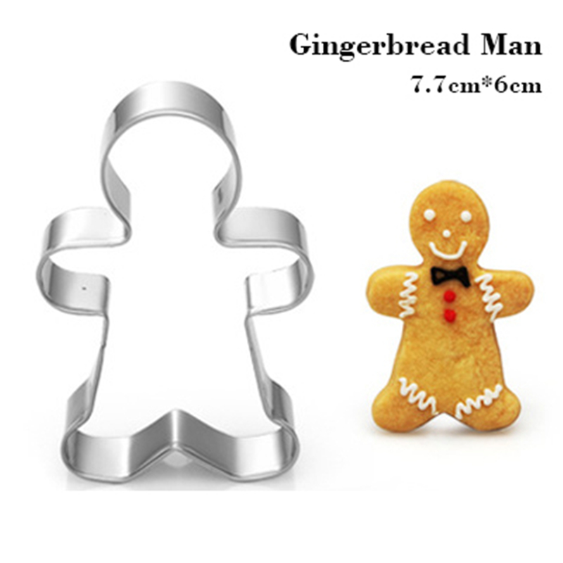 Gingerbread Man Shape Egg Biscuit Cookie Cutter Tools Stainless Steel Dessert Kitchen <font><b>Aliexpress</b></font> Coupon Top Sales Baking Mold image