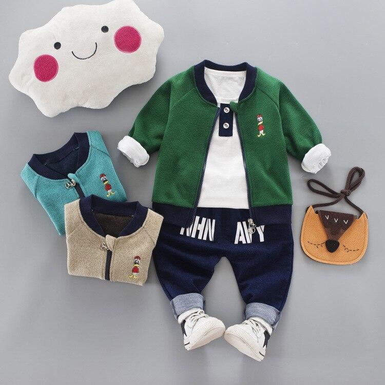 JIOROMY 2019 Çocuk giyim Güz Karikatür Baskı Fermuar Ceket + - Çocuk Giyim - Fotoğraf 4