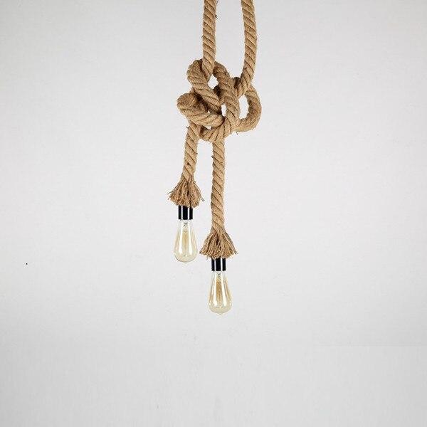 Antigo Pingente Luzes lâmpadas de Longa Corda de cânhamo Industrial Do Vintage Escritório Bar Do Hotel rural Moderna Iluminação LED Mini Lâmpada Do Teto - 2