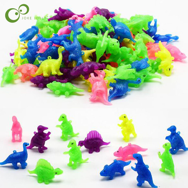 20 pçs/lote Plástico mini dinossauro brinquedo de criança presente de aniversário mobiliário modelo de dinossauro modelo de dinossauro aleatória LYQ