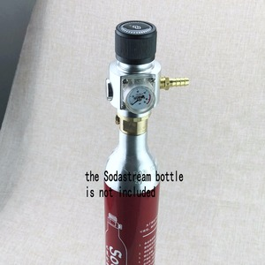 Image 2 - Sodastream CO2 Mini Gas Regulator CO2 Charger Kit 0 90 PSI corny cornelius keg charger for European Soda stream Beer Kegerator