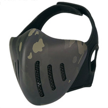 Tactical Airsoft Cool Half-Face Mask CS Game Paintball Mask Halloween Mask Attractive Masquerade Party Face Mask цена