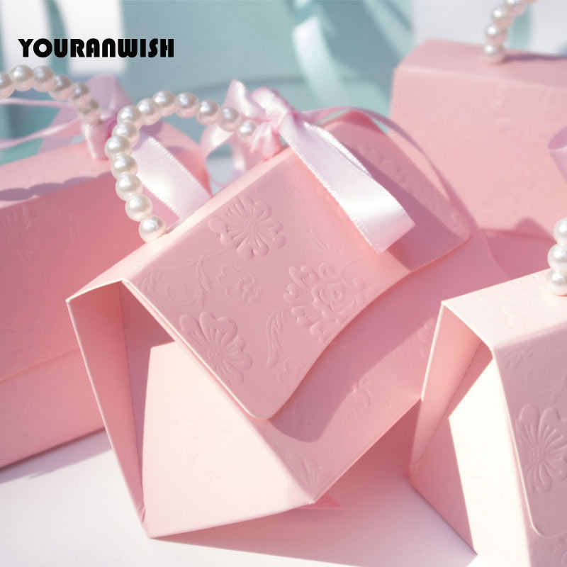 Youanwish 10 unids/lote Portable para fiesta de boda cajas de dulces para fiesta de bebé Cajas de Regalo para fiesta de boda Cajas de Regalo para dulces