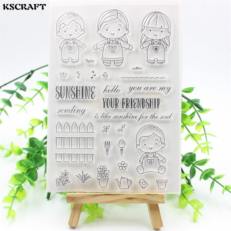 KSCRAFT Your Friendship Transparent Clear Silicone Stamps for DIY Scrapbooking/Card Making/Kids Fun Decoration Supplies kscraft butterfly and insects transparent clear silicone stamps for diy scrapbooking card making kids fun decoration supplies