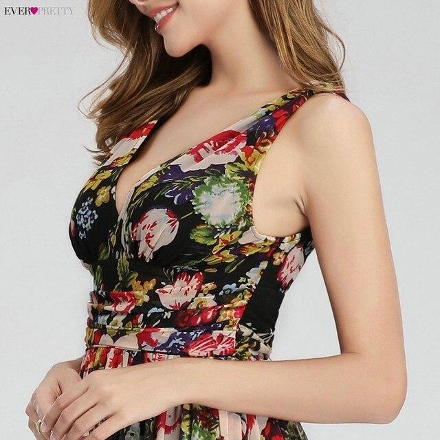 Floral Printed Elegant Prom Dresses Ever Pretty A-Line V-Neck Sleeveless Sexy Formal Party Dresses EP09016BP Vestidos De Gala 5