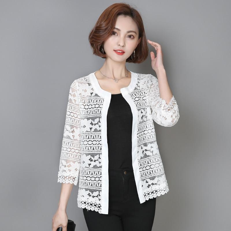Mikialong L 5XL Plus Size Women Summer Cardigan 2017 Korean Black ...