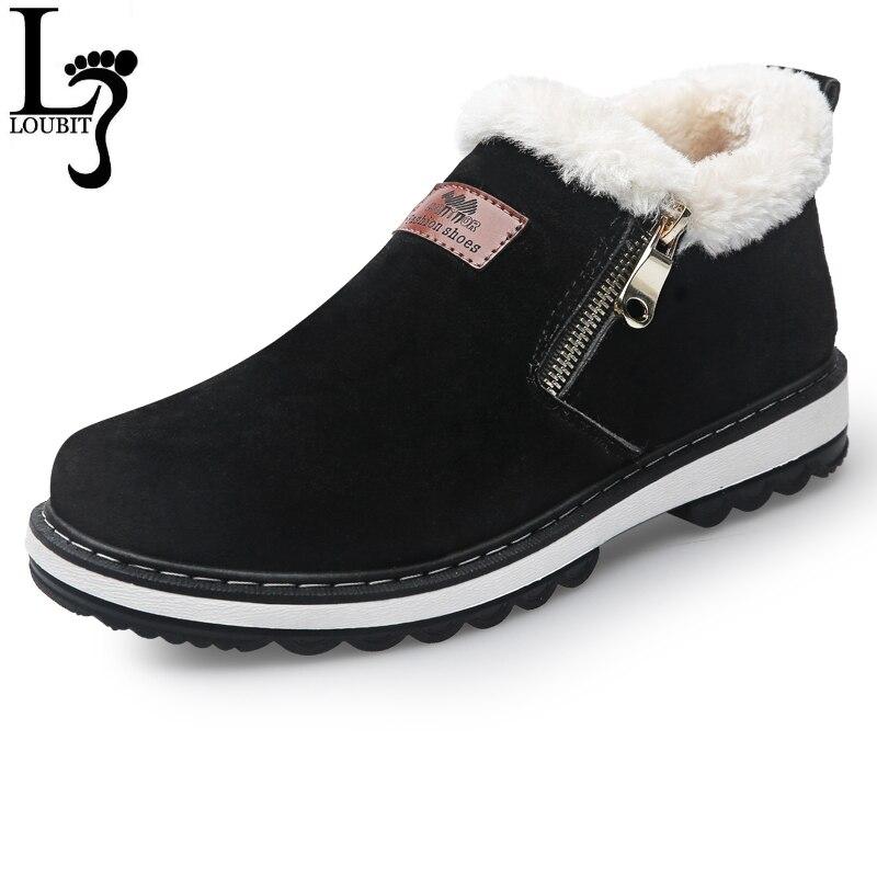 Модные черные Мужские сапоги дизайнерская зимняя обувь Для мужчин теплые короткие плюшевые ботинки повседневные сапоги с мехом Для мужчин молния Zapatillas Deportivas
