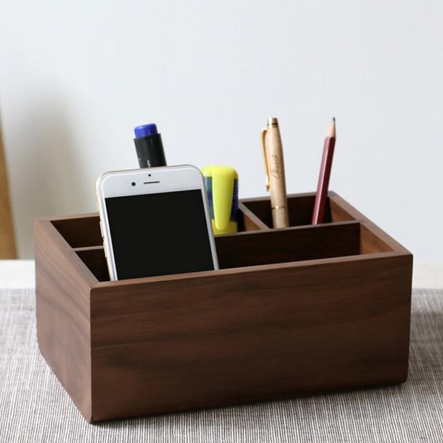 Wooden Office Desk Organizer Multi Functional Home Office Desk
