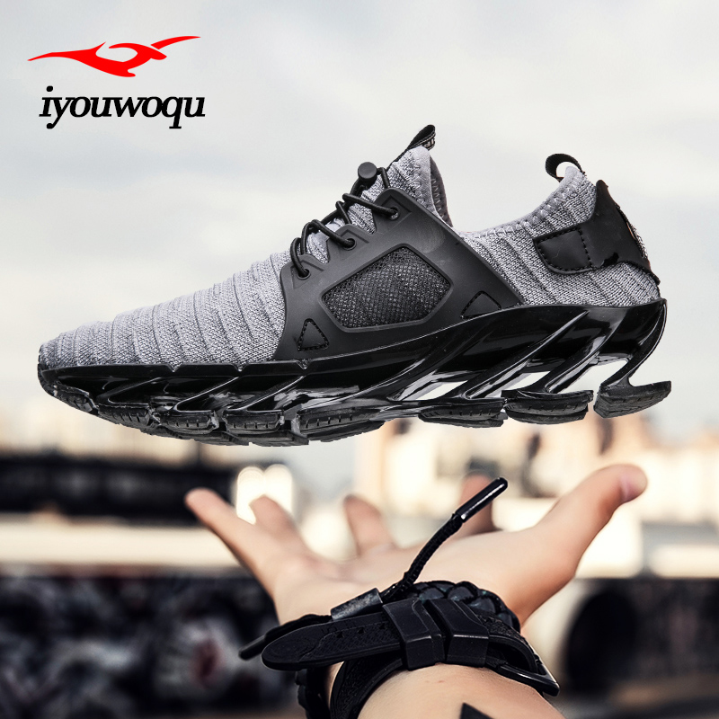 Outdoor sports shoes 2018 New design blade Men running shoes Breathable cushioning sneakers men athletic shoes